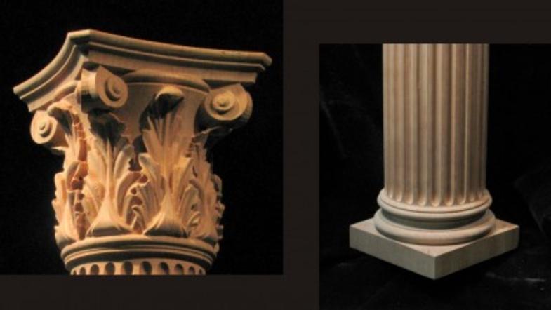 Full Round Column - Corinthian Column w Acanthus Capital