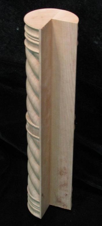 Carved Island Column - Spiral