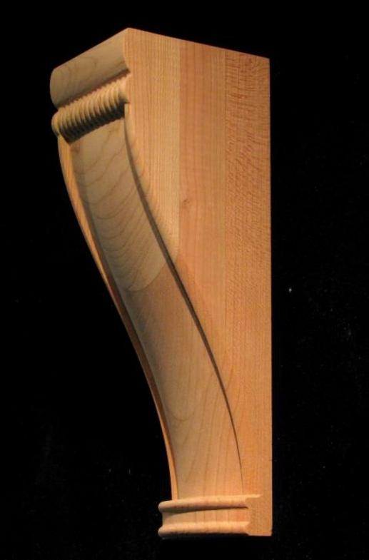 Simple Wood Corbels : Carved wood corbel simple