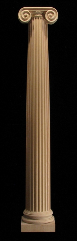 Column Full Round Ionic With Capital Columns Full