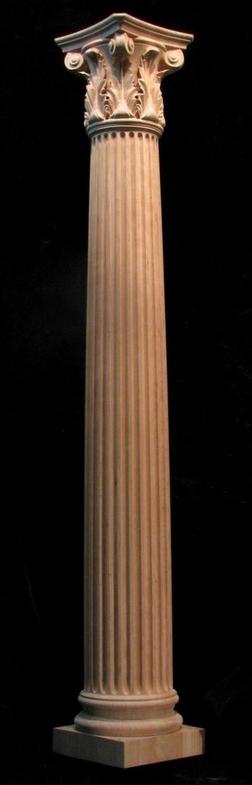 Round Wood Columns : Column full round corinthian columns