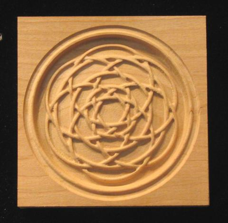 Block Celtic Ball Weave Carved Wood