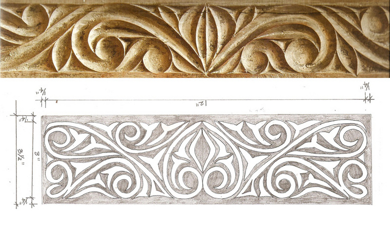 African style carved panels