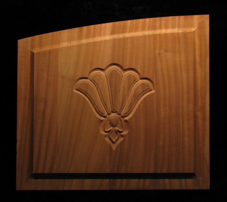Cabinet Door with Relief Carving