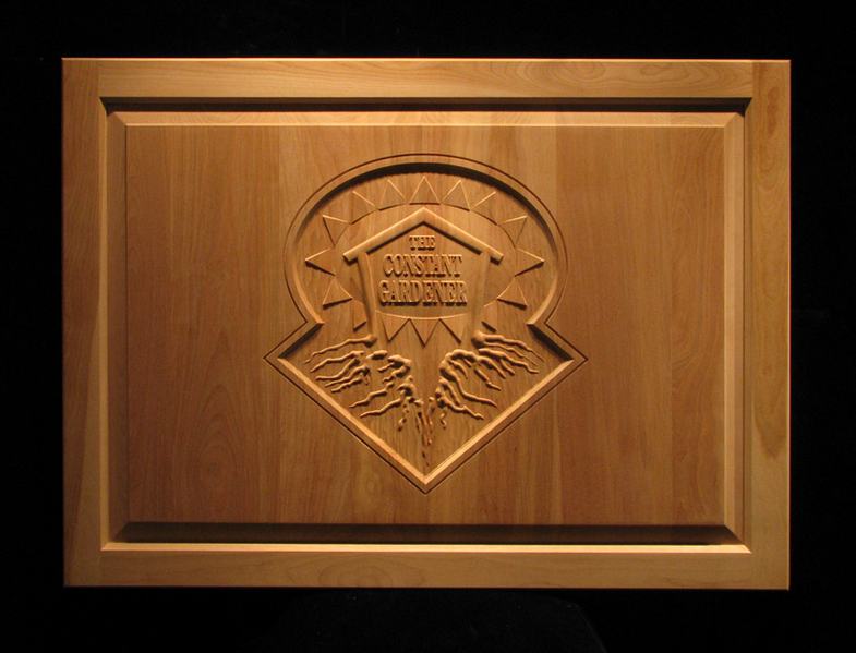 Business Logo Carved Cabinet Door