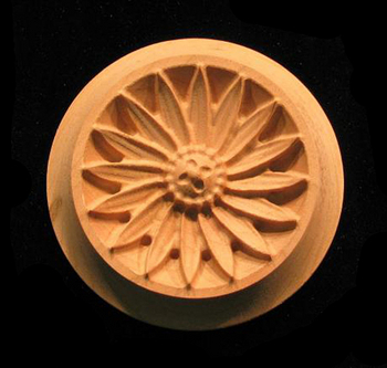 Rosettes Carved Wood