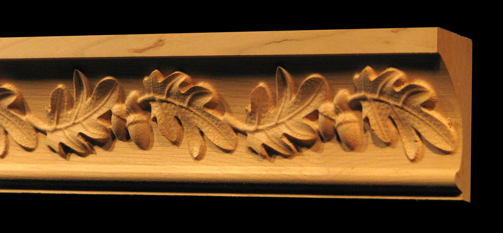 clear carved leaves