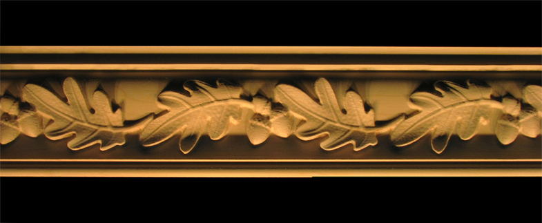 Crown Moulding - Acorns and Oak Leaves Wood Carved