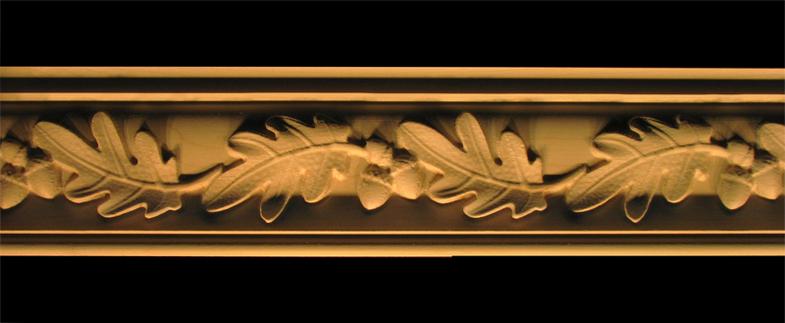Crown Moulding Acorns And Oak Leaves Wood Carved