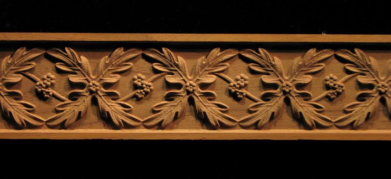 frieze oak leaves weave decorative carved wood molding