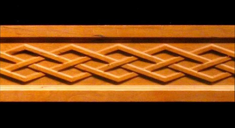 Frieze Celtic Diamond Weave Decorative Carved Wood Molding