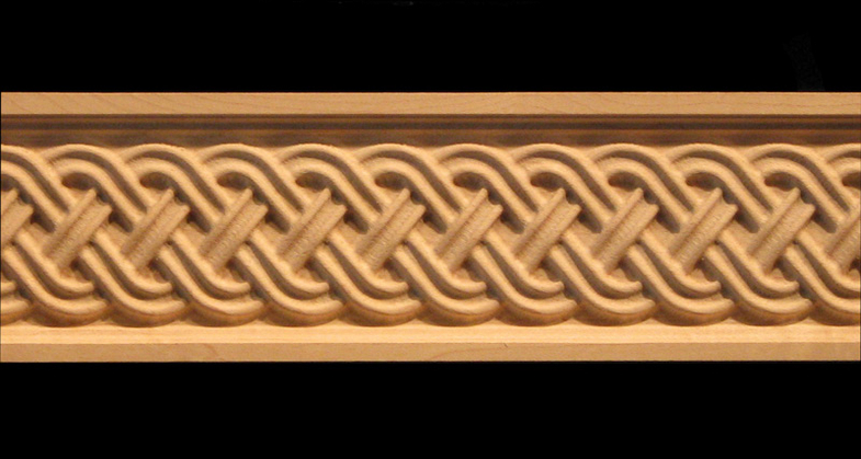 Frieze - Celtic Double Weave Acanthus Leaf Decorative Carved Wood ...