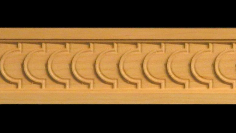 Decorative Wood Moulding Frieze Carved Stacked Coins