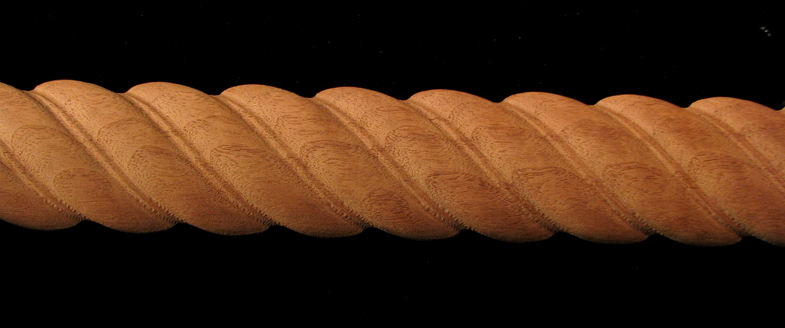 Frieze Twisted Rope Decorative Carved Wood Molding