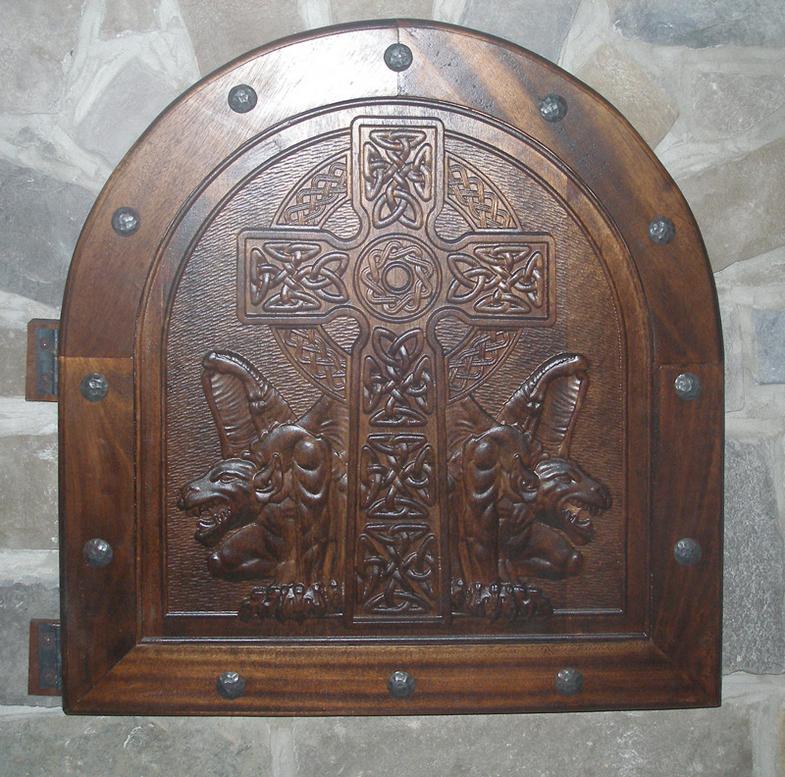 Celtic Gargoyle Panel