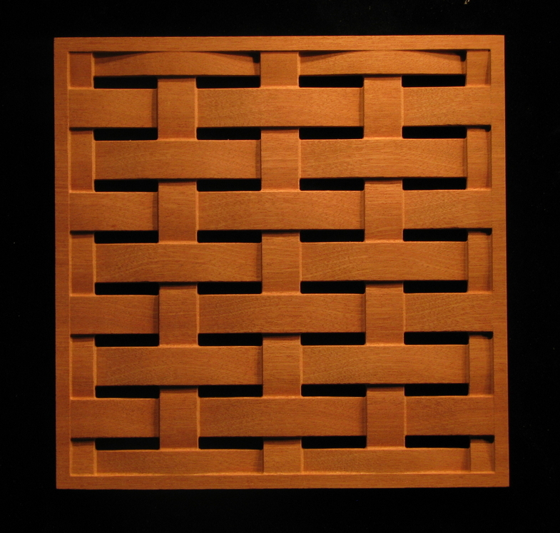 Carved Wood Panels Pattern 26 Square Weave