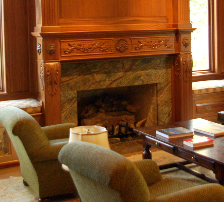 Mantel With Lions And Acanthus Leaves Fireplace Mantels