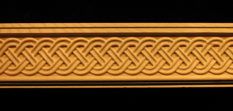 Moulding Celtic Double Weave Carved Wood