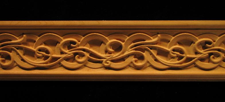 decorative wood moulding celtic nouveau
