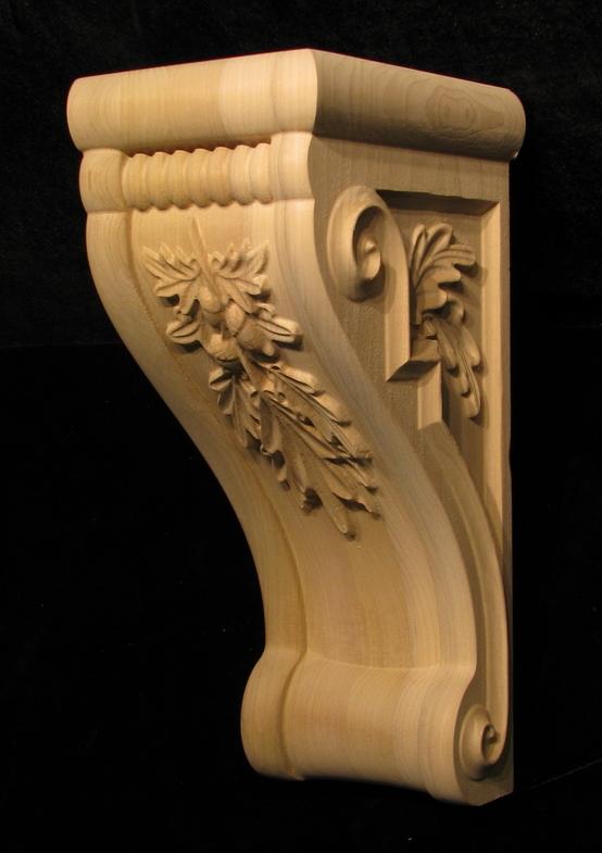 Corbel - Oak Leaves - Custom