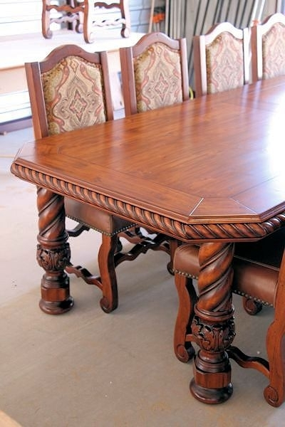 Table Leg - Spiral with Acanthus Foot