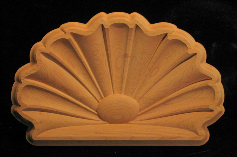 Onlay Carved Shell Linenfold Carved Wood