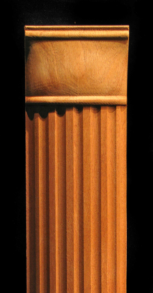 Pilaster Fluted Partial Round Wood Carved