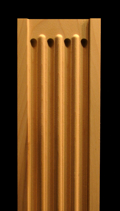 Pilaster Fluted With Roundover Wood Carved