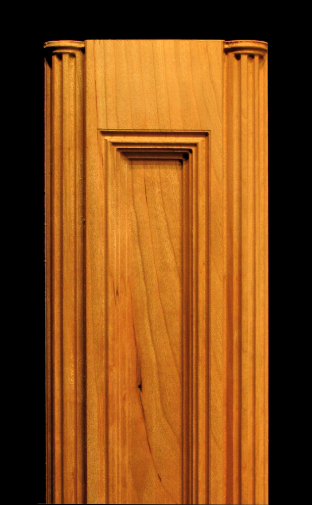 Pilaster Inside Profile With Double Roundovers Wood Carved