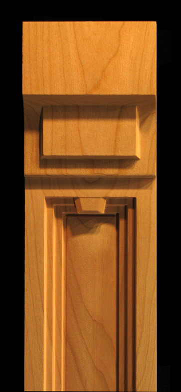 Pilaster Art Deco Accents Carved Wood