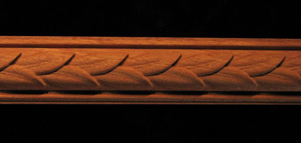 Decorative Wood Moulding Frieze Carved Laurel Leaves