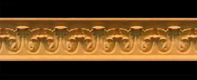 frieze acanthus leaf decorative carved wood moulding