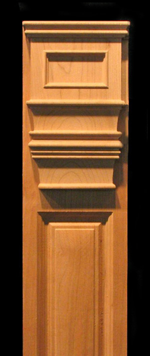 Pilaster Georgian Style Carved Wood