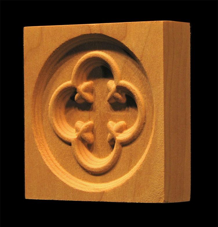 Corner Block - Gothic Circle