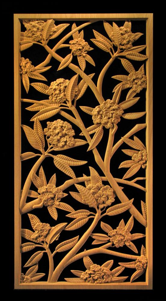Panel - Plumeria Blossoms