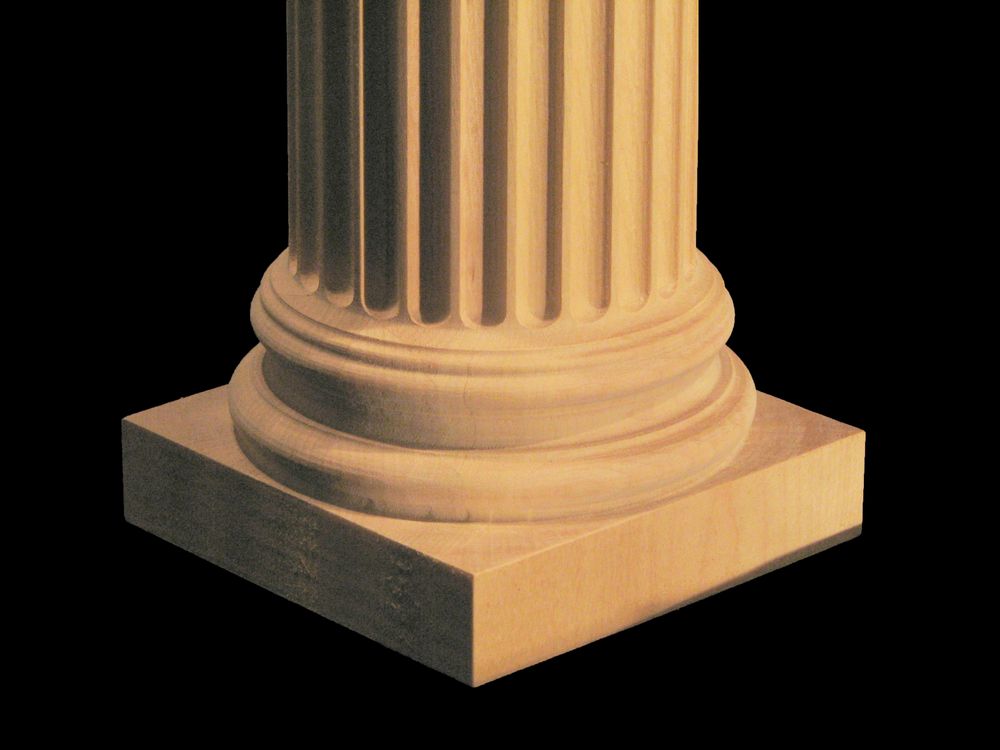 Wooden Column (Half and Full Round) - Ionic with Capital