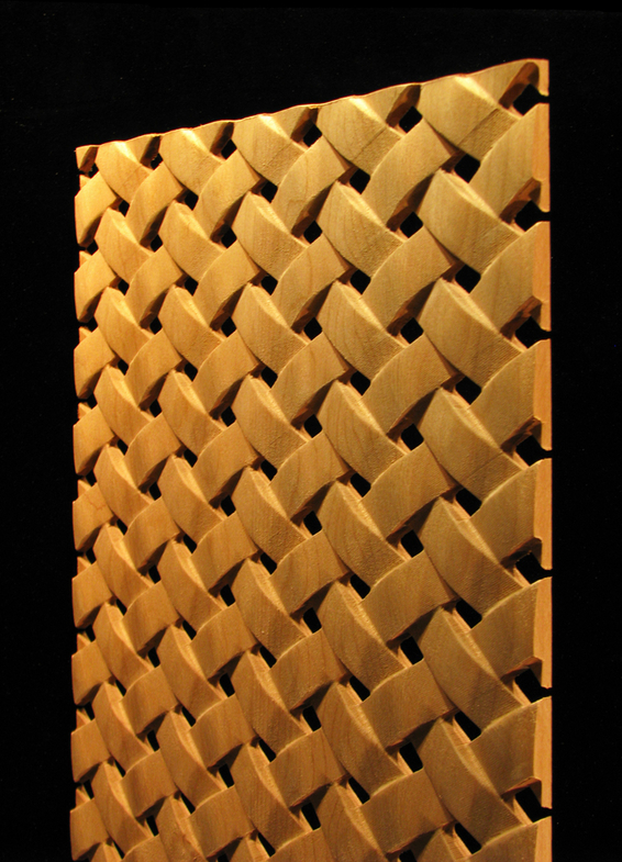 Carved Wood Panels Pattern 29 Simple Weave