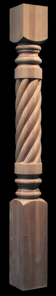 Column Post - Carved Spiral - Full or Half Round