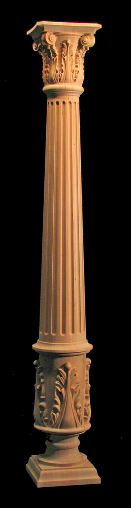Full Round Acanthus Column W Fluting