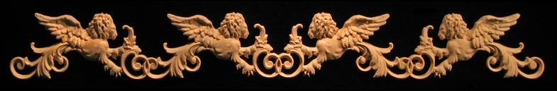 Onlay - Wide  - Venetian (Winged) Lions