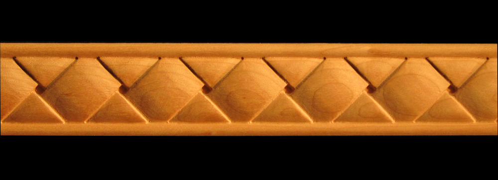 Frieze Square Basket Weave Decorative Carved Wood Molding
