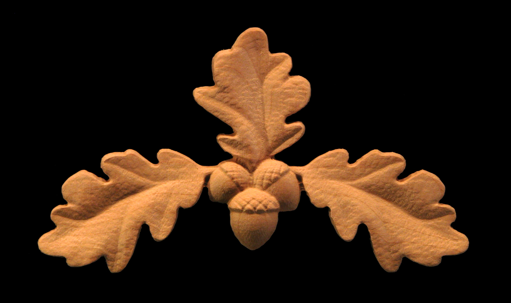 Oak Leaf Carved Onlay