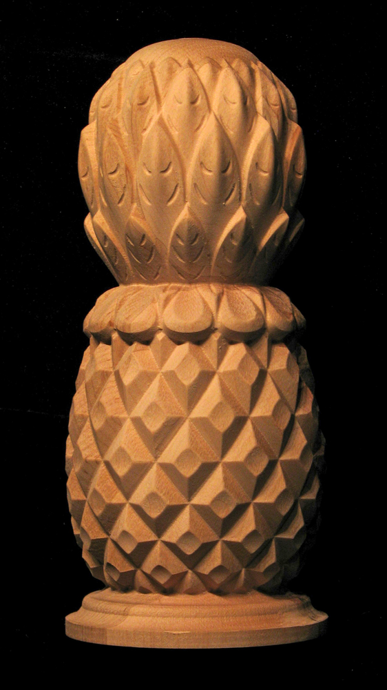 Finial Classic Carved Pineapple Carved Wood