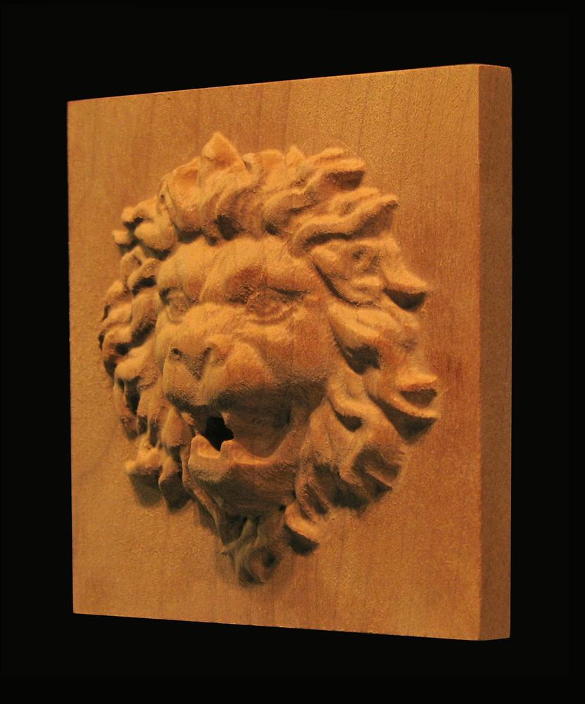 Plaque - Roaring Lion Head