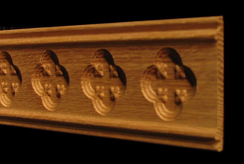 Moulding - Gothic Quatrefoil Florets
