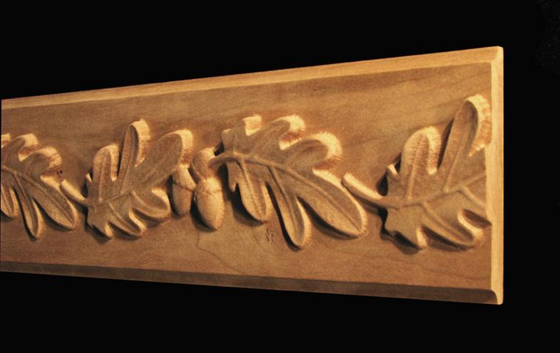 Frieze Onlay - Oak Leaves & Acorns - Onlay