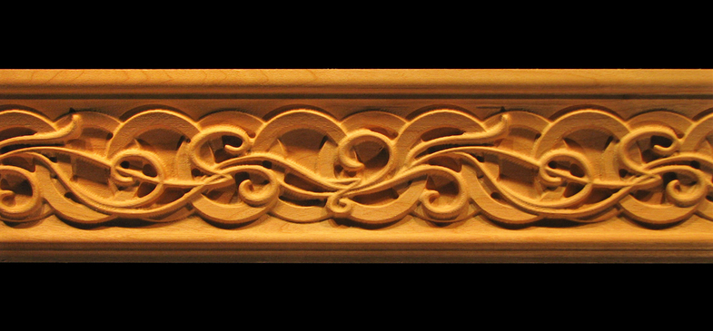 Moulding Celtic Nouveau Carved Wood