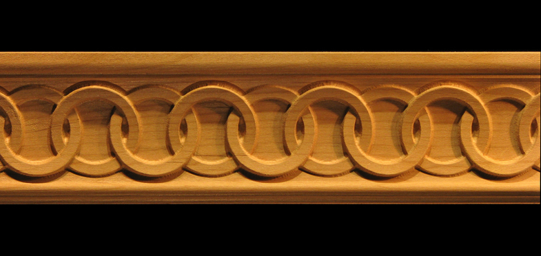 Moulding Celtic Rings Carved Wood