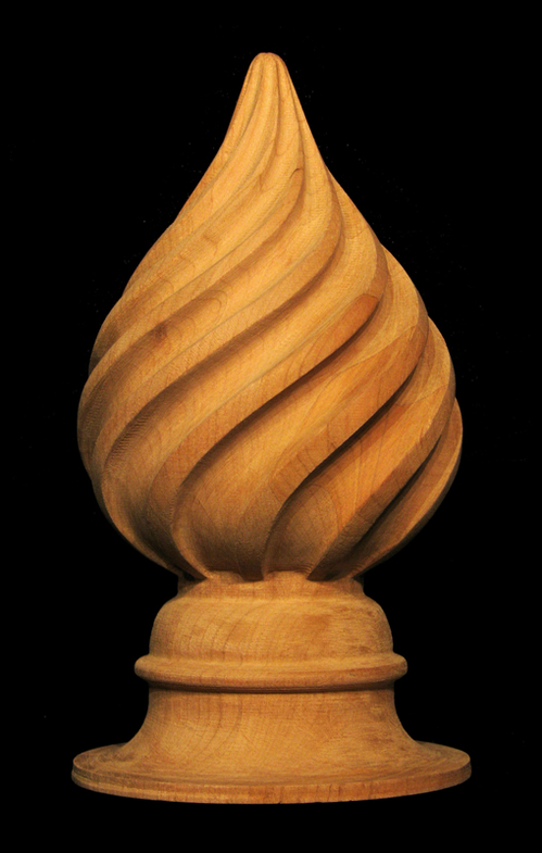 Finial - Spiral Finial Carved Wood