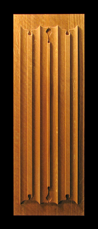 Wood Panel Accent Wall: Linenfold Carved Panel